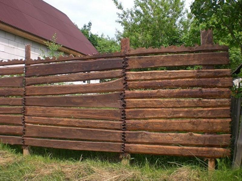 Забор дома своими руками фото